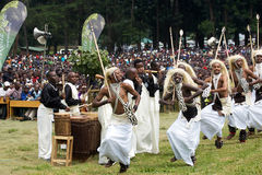 Intore dancers at the Kwita Izina ceremony Royalty Free Stock Image