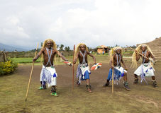 Intore dancers at the village Stock Photo