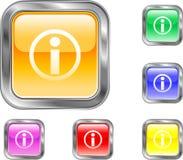 intormation de bouton Image stock