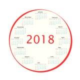 Intorno al calendario nel 2018 Fotografia Stock Libera da Diritti