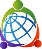 Intorno al logo del mondo illustrazione vettoriale