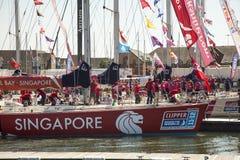 Intorno alla corsa dell'yacht del mondo Fotografia Stock Libera da Diritti