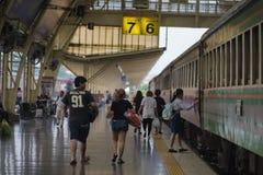 Intorno a Bangkok la stazione ferroviaria o Hua Lamphong Station è la stazione ferroviaria principale a Bangkok, Tailandia Fotografia Stock