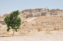 Intorno a Matmata, colline del deserto. Immagine Stock