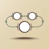 Intorno a tre celle connesse Fotografia Stock