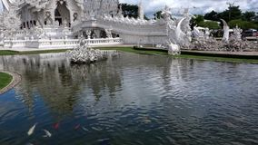 Intorno a Wat Rong Khun stock footage