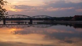 1934) inTorun de Marshall Jozef Pilsudski Bridge (, Polônia Fotos de Stock