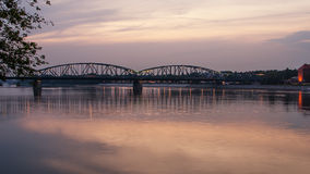 1934) inTorun de Marshall Jozef Pilsudski Bridge (, Pologne Photographie stock libre de droits