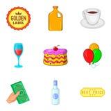 Intoxication icons set, cartoon style. Intoxication icons set. Cartoon set of 9 intoxication vector icons for web isolated on white background stock illustration