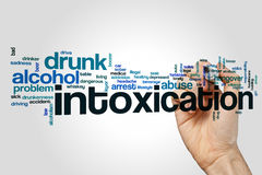 Intoxication word cloud concept Royalty Free Stock Image