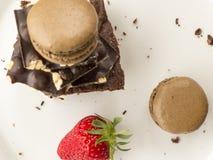 Intoxiqué de chocolat image libre de droits