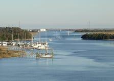 Intra canale navigabile litoraneo Immagine Stock Libera da Diritti