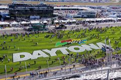 Intra-champ au speed-way de Daytona Photos stock