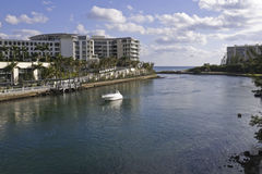 Intra-coastal waterway at Boca Raton, Florida Royalty Free Stock Image