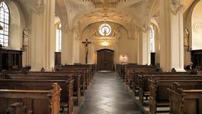 Intra-kathedraal in Dusseldorf stock videobeelden