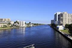 Intracoastal droga wodna, fort lauderdale, Floryda zdjęcie stock