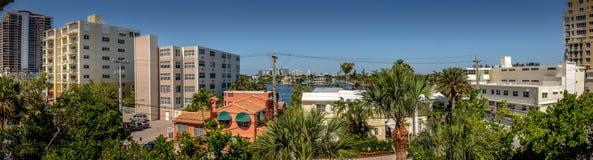 Intracoastal horisont för Fort Lauderdale royaltyfri bild
