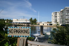 By the intracoastal. This is looking at the intra coastal in Delray Beach, FL Stock Photos