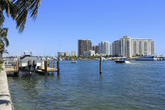 Intracoastal Waterfront Royalty Free Stock Photography