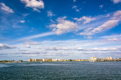 The Intracoastal Waterway in Clearwater Beach, Florida. Royalty Free Stock Images