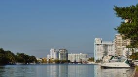 Intracoastal waterway Miami stock video footage