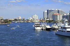 Intracoastal Waterway North of Las Olas Royalty Free Stock Photo