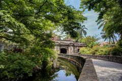 Intramuros alte Straße Lizenzfreies Stockbild
