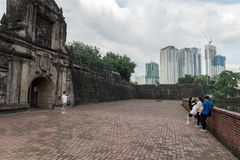 MANILA, PHILIPPINES - JANUARY 12, 2018: Intramuros. Fort Santiago is a citadel first built by Spanish conquistador royalty free stock photos
