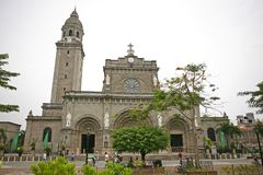Intramuros Manila domkyrka in royaltyfri foto