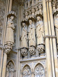 Intrance della cattedrale di Metz Fotografia Stock Libera da Diritti
