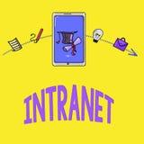 Intranet do texto da escrita da palavra Conceito do negócio para a rede de comunicações local ou restrita a especialmente privada ilustração stock