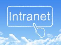 Intranet message cloud shape Stock Image