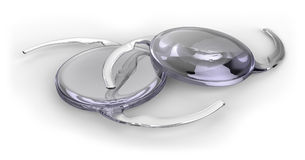 Intraocular lens implant royalty free stock image