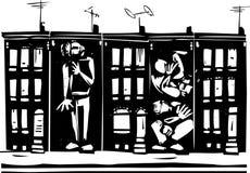 Intrappolato in ghetto royalty illustrazione gratis