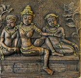 Tre donne di Bali Immagini Stock