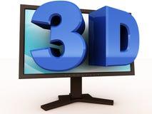 intrattenimento 3d sul video illustrazione di stock