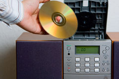 Intrattenimento di musica di riproduttore di CD Fotografia Stock Libera da Diritti