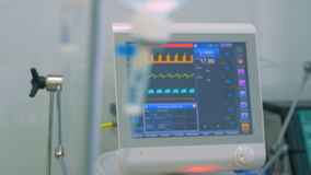 Intravenous drip, medical equipment on background. stock video