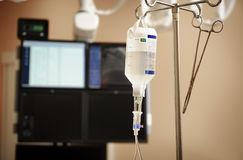 Intravenous drip system Stock Photo