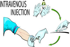 Intravenous injection Stock Image