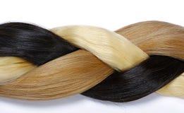 Intrecciatura dai capelli del colorfull Fotografia Stock Libera da Diritti