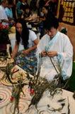 Intrecciatura di foglia di palma, IFICH 2013 Fotografie Stock Libere da Diritti