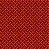 Intrecciatura di nylon rossa della corda Fotografia Stock Libera da Diritti