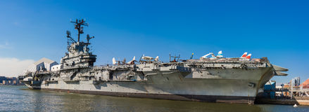 Intrepid sea, air and space museum exteriror, New York city Stock Images
