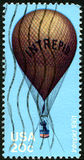 Intrepid Hot Air Balloon US Postage Stamp Stock Image