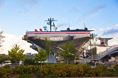 Intrepid museum and aircraft ccarrier Royalty Free Stock Image