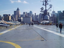 Intrepid with NY in the backgruond royalty free stock images