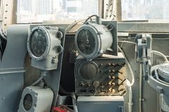 Intrepid Sea, Air and Space Museum, New York. NEW YORK, USA - SEP 25, 2015: Cabin of the USS Intrepid (The Fighting I), one of 24 Essex-class aircraft carriers Royalty Free Stock Photos