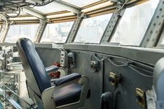 Intrepid Sea, Air and Space Museum, New York. NEW YORK, USA - SEP 25, 2015: Cabin of the USS Intrepid (The Fighting I), one of 24 Essex-class aircraft carriers Stock Photos