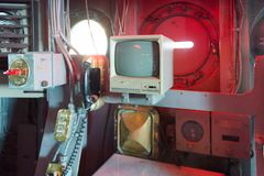 Intrepid Sea, Air and Space Museum, New York. NEW YORK, USA - SEP 25, 2015: Cabin of the USS Intrepid (The Fighting I), one of 24 Essex-class aircraft carriers Stock Photo